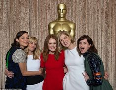 The are in competition: While attending the Academy Awards nominees luncheon in Beverly Hi...