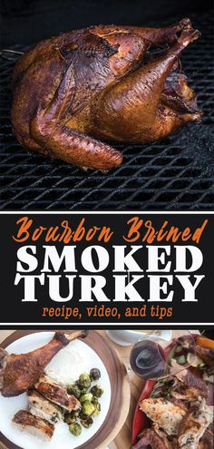 Turkey Brine Bourbon Brined Smoked Turkey is full of big bold flavors and is perfect for your Thanksgiving dinner. This is the best Smoked Turkey recipe around. Comes with wine pairings for Thanksgiving dinner and side dishes on the grill or smoker. Grilled Turkey, Roasted Turkey, Grilling Recipes, Cooking Recipes, Healthy Recipes, Smoker Grill Recipes, Smoker Cooking, Bbq Grill, Cooking Beets