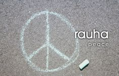 Finnish words: rauha