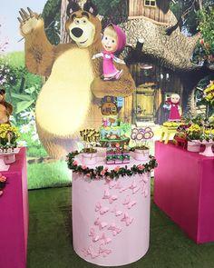Masha e o urso para pequena Vivian!! #festamashaeourso #mashaeourso #mashaeoursoparty #festainfantil ...