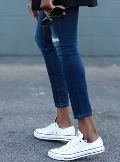 7 Fashion Trends To Try Out For Spring! We love white converse ... 05e1ea969