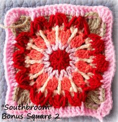 """Hello lovely CAL-ers! yesterday was my Birthday, so I thought I would surprise you with another bonus square, the """"Southbroom Square""""!    ..."""