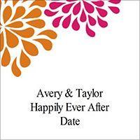 Free Avery® Templates - Wedding Shower Pink & Orange Flowers Square Labels, 12 per sheet