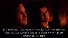 Team Badass is right. I totally cried when he died in his arms..
