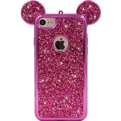 iPhone 8 Case, iPhone 7 Case, MC Fashion Super Cute Sparkle Bling Bling Glitter Mickey Mouse Ears Soft and Protective TPU Rubber Case (Hot Pink, iPhone iPhone Iphone Cases Bling, Girly Phone Cases, Iphone Cases Cute, Glitter Phone Cases, Cute Cases, Iphone 7 Plus Cases, Pink Iphone, Apple Iphone 5, Ipod Touch