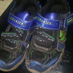 new products 30d30 a4564 Skechers Shoes   Boys Skechers Light Up Shoes   Color  Blue   Size  13b