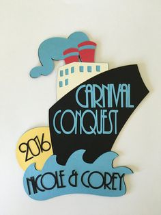 Fun door decoration for your next cruise! **WARNING** It appears that CARNIVAL CRUISE LINE has adopted a new fire retardant door decoration policy as of Oct. 31 2016, and no longer allows anything used that is not made of fire retardant materials. My decorations are made of card stock paper and may not comply with their new policy. (They are offering their own decorations for purchase that comply.) Please check with your cruise line before purchasing my items to be sure they are approved…