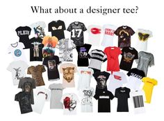 """DESIGNER TEE IT!"" by sillejasmin ❤ liked on Polyvore featuring Fendi, Kenzo, Valentino, Givenchy, Drome, Filles à papa, Carven, Versace, Dolce&Gabbana and Marques'Almeida"
