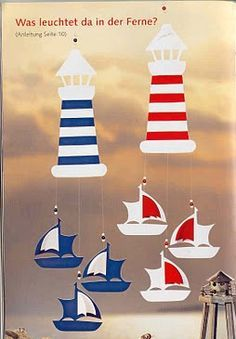 világító torony hajókkal Sea Crafts, Craft Stick Crafts, Preschool Crafts, Diy And Crafts, Paper Crafts, Summer Crafts, Summer Art, Diy For Kids, Crafts For Kids
