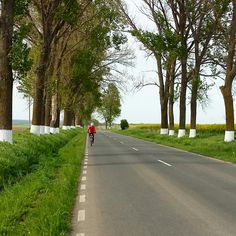 cycling to Enisala castle, near Babadag, Romania