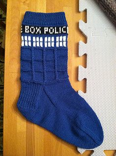Ravelry: Tardis socks pattern by Gina Waters Pattern