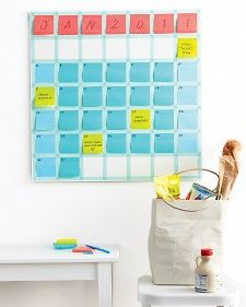 Make a monthly calendar that's as changeable as your schedule.