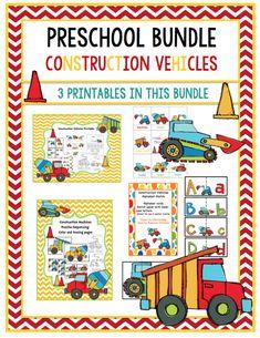 Construction Vehicles Bundle with Alphabet cards-most popular Preschool Printables, Preschool Activities, Construction Theme Preschool, Community Workers, Alphabet Cards, Elementary Schools, Literature, Learning, Vehicles