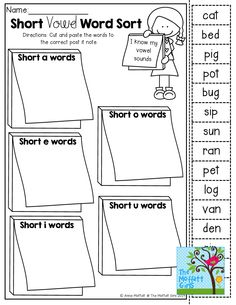Over 200 Pages of Cut and Paste Word Work: Letters, Sounds