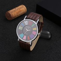 MILER Fashion Multicolor Roman Numerals Watch Women Watches Leather Ladies Watch Hour montre femme relogio feminino reloj mujer Like if you are Excited! Visit our store