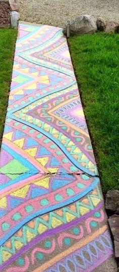 sidewalk chalk ideas x