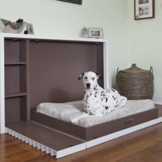 If you have a big dog and a small apartment, you will love this collapsible dog bed. It folds against the wall and takes virtually no space.