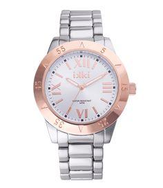 Watch Metal Julie in de kleuren silver en rose (€59,95)