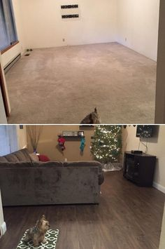 "Living Room Inspiration:  ""The project went great! We have family and friends over to our new home and they love the floor! Our experience with Lumber Liquidators has been a phenomenal experience with outstanding customer service."""