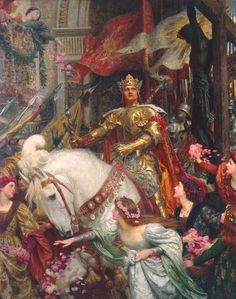 The Two Crowns 1900, Sir Frank Dicksee - I hope The Tate brings it out of storage one day soon!