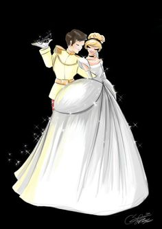 Cinderella and Prince by SilverCatseyes on deviantART