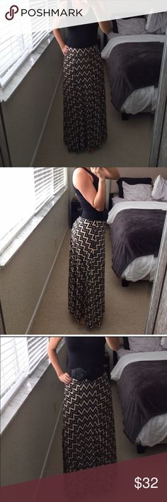 REPOSH! Patterned Soft Maxi Skirt Brand new without tags. Never worn. Very silly and stretchy. Patterned maxi skirt with elastic waist. Purchased from vnecase -photos are hers. Skirts Maxi