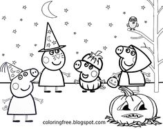 peppa pig halloween coloring pages 12 Best Peppa Pig images | Peppa pig, Peppa pig coloring pages, Pigs peppa pig halloween coloring pages