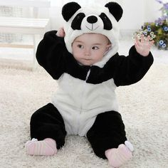 Cheap zipper romper, Buy Quality newborn boy directly from China rompers rompers Suppliers: Baby Kid Toddler Newborn Boy Panda Animal Onesie Hooded Zipper Romper Jumpsuit Outfit Costume So Cute Baby, Cute Baby Clothes, Cute Babies, Baby Animal Costumes, Panda Costumes, Baby Costumes, Baby Boys, Baby Kostüm, Baby Boy Newborn