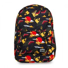 d5bc7426117c Pokemon Pikachu   Clouds All Over Print Black Backpack by Loungefly NEW