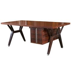 Rosewood Terni Desk by Ico Parisi | From a unique collection of antique and modern desks at https://www.1stdibs.com/furniture/storage-case-pieces/desks/