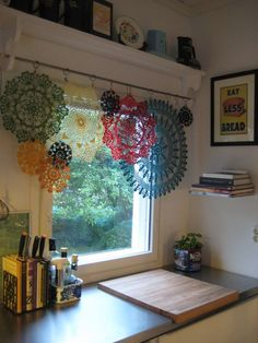 modelos cortinas croche cozinha