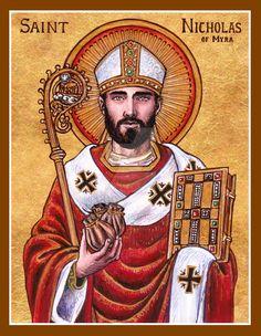 St. Nicholas of Myra icon by Theophilia.deviantart.com on @DeviantArt
