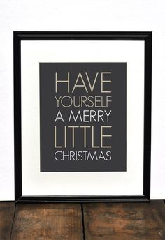Merry Little Christmas Art Print // Modern Minimalist Christmas Decor // Neutral White Christmas Decor // Holiday Print. $18.00, via Etsy.