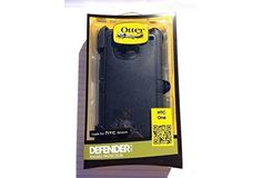 Otterbox Defender Series Case for HTC One, HTC One M7, HTC1, HTC 1 -with Belt Clip, Retail Packaging (Black)