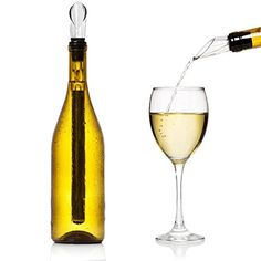 Wine Chiller MLVOC 3in1 Wine Bottle Cooler Stick 304 Stainless Steel Wine Aerator and Wine Pourer *** Details can be found by clicking on the image.