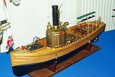 Syren steamboat with working steam engine
