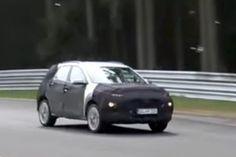 Hyundai Kona (Maruti Vitara Brezza rival) caught on video at Nurburgring