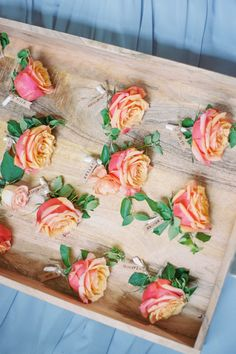 Rose Boutonniere, Boutonnieres, Real Weddings, Wedding Inspiration, Coral, Inspirational Photos, Decor, Flowers, Food