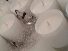 Soy candles with lavender,geranium and rose essential oils