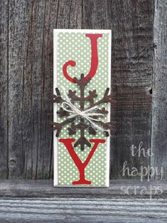 JOY Block made with the help of the Cricut Expression and Cricut Craft Room.
