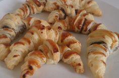 Croissants de chocolate, nueces y Ambrosías Tirma