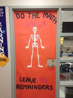 Red Ribbon Week Door Decoration. I Later Had My Students Decorate The Door  With Math