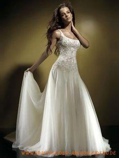 2012 Exquisites stilvolles Brautkleid aus Organza mit schöner Schleppe