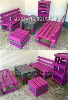 Furniture design of wood pallet is fantastically added in this image. If you will watch out maximum houses garden locations or the indoor houses, then many of them are being settled with the wood pallet furniture art work that completely make it so appealing. Try it now!
