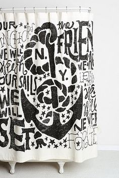 Urban Outfitters Jon Contino Anchors Aweigh Shower Curtain