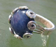 Wire Wrapped Sodalite Ring