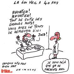 40 ans après la loi Veil, l'avortement en France - Dessin du jour - Urtikan.net
