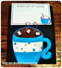 Hot chocolate craft! Perfect for winter or Polar Express units!.