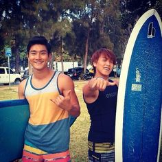 Twitter / siwon407: surfing is great sport. good ...  Siwon and Sungmin