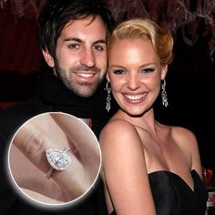 Kathering Heigle & husband Josh Kelly: Top 23 Enviable Celebrity Engagement Rings - Jeweller Magazine: Jewellery News and Trends